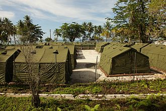 Le camp sur l'île de Manus
